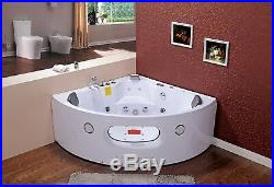 Whirlpool Corner Bath Jacuzzi Massage Jet Shower Double Ended 155x155cm Ozone