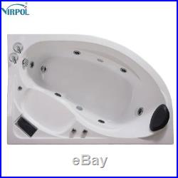 Whirlpool Corner Bath Jacuzzis Massage One Person Spa Bathtub 1510R 1500mm