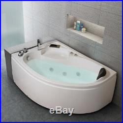 Whirlpool Corner Bath One Person Right Hand Bathtub SPA Jacuzzis Massage 1500mm