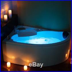 Whirlpool Corner Bath SPA Jacuzzis Massage One Person Left Hand Bathtub 1500mm