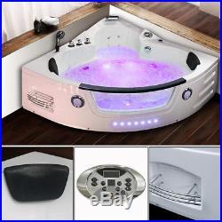 Whirlpool Corner Bathtub Luxury 2 person Jacuzzi Bath 22 JETS 1350 BALI01M
