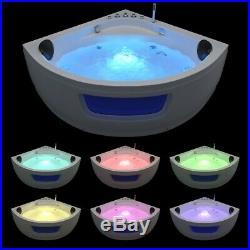 Whirlpool Corner Spa Acrylic Shower Jacuzzis 8 Jets Double Ended Bathtub 1500mm