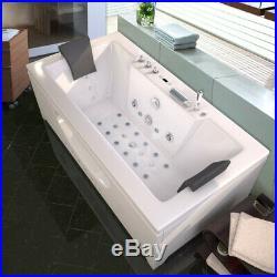 Whirlpool Double End Bath Rectangle Jacuzzis 26 Massage Jets Bathroom Spa 1700