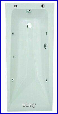 Whirlpool Jacuzzi Bath Acrylic 1700 x 700mm 6 Jet Tub Single Ended Spa White