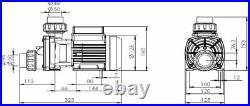 Whirlpool Jacuzzi Bath Circulation Pump Self Draining JTC Italian 0.4kw Silent