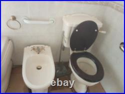 Whirlpool SPA Jacuzzi Massage 1500mm, Bidet, Shell Basin Pedestal, Basin, Toilet