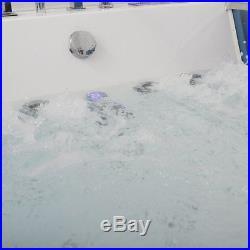 Whirlpool Shower Bath 20 Jacuzzi Massage Jet SPA 2Person Double End Bathtub 1700