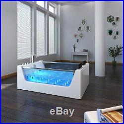 Whirlpool Shower Bath 20 Jacuzzi Massage Jet SPA 2Person Double End Bathtub 1750