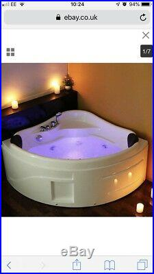 Whirlpool Shower Bath Jacuzzi Massage Spa Corner 2 Person Double Bathtub 1300mm