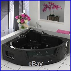 Whirlpool Shower Bath Jacuzzis Massage Jets Corner Bathtub 2 Person Black 6155M