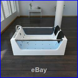 Whirlpool Shower Bathtub 20 Jacuzzi 8 Massage Jets 12 Air Jets SPA Double Ended
