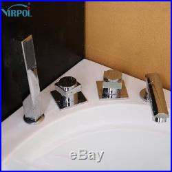 Whirlpool Shower Spa Jacuzzis Massage Corner Double End Rectangle Bathtub 6134M