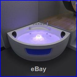 Whirlpool Spa Acrylic Shower Jacuzzis 8 Jets Corner Double Ended Bathtub 1350mm