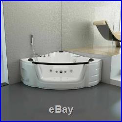 Whirlpool Spa Acrylic Shower Jacuzzis Massage Corner Double Ended Bathtub 1350mm