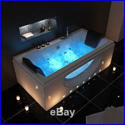 Whirlpool Spa Double End Rectangle Shower Jacuzzis System Massag Bathtub HAWAII