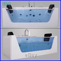 Whirlpool Spa Shower Jacuzzis Massage Corner 2 person Double Bathtub 1700 6180M