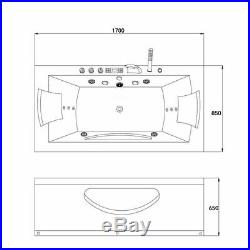 Whirlpool System Massage Jets Rectangle Shower Spa Jacuzzis Double Ended Bathtub