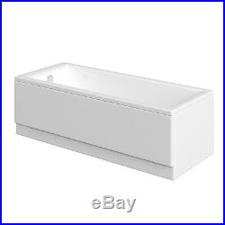 White 13 Jet Whirlpool Bath + Deluxe Side & End Panel + Pop Up Waste Jacuzzi Spa